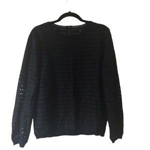 Ann Taylor navy blue long sleeve blouse size XL